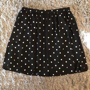 Flowy polka dots skirt